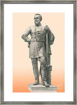 Stonewall Jackson, Confederate General Framed Print by Photo Researchers