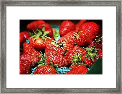 Strawberries Framed Print by Cathie Tyler