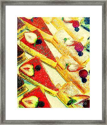 Strawberry Cakes Framed Print by Wingsdomain Art and Photography