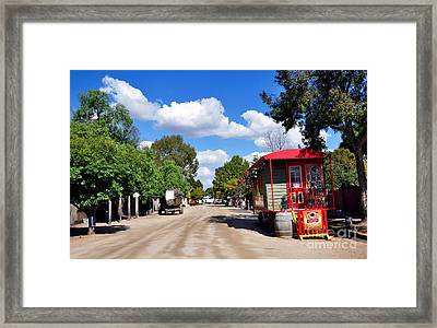 Street With Character Framed Print by Kaye Menner