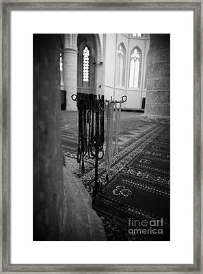 Subha Misbaha Tasbih Prayer Beads Hanging In The Lala Mustafa Pasha Mosque  Framed Print by Joe Fox