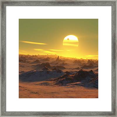 Sun Over Dying Earth Framed Print by Detlev Van Ravenswaay