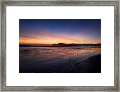Sunset Framed Print by Benjamin Street