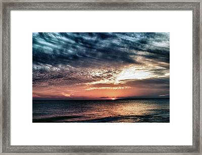 Sunset Framed Print by Stelios Kleanthous