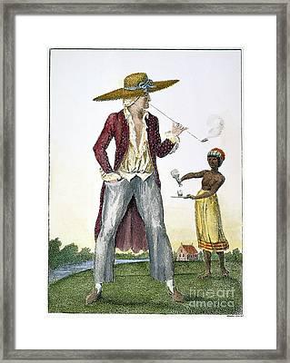 Surinam: Slave Owner, 1796 Framed Print by Granger