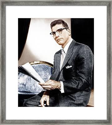 Sweet Smell Of Success, Burt Lancaster Framed Print by Everett