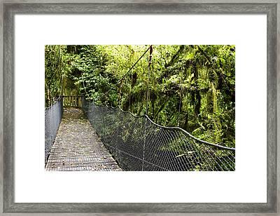 Swingbridge Framed Print by Les Cunliffe