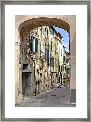 Taggia In Liguria Framed Print by Joana Kruse