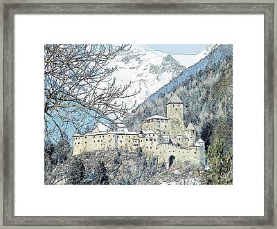Taufers Knights Castle Valle Aurina Italy Framed Print by Joseph Hendrix
