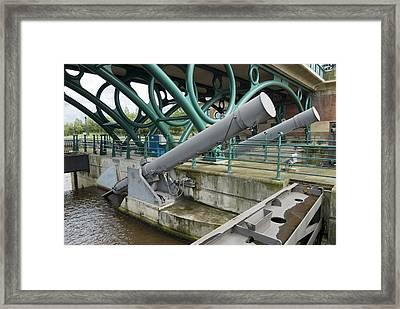 Tees Barrage Framed Print by Adrian Bicker