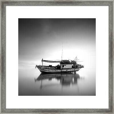Thai Fishing Boat Framed Print by Teerapat Pattanasoponpong