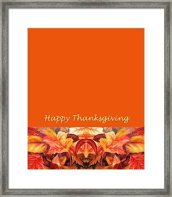 Thanksgiving Card Framed Print by Irina Sztukowski