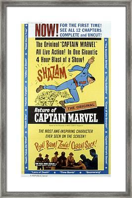 The Adventures Of Captain Marvel, Tom Framed Print by Everett