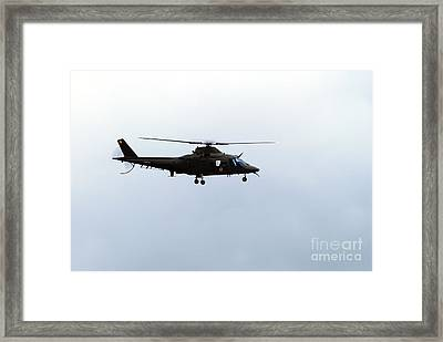 The Agusta A-109 Helicopter Framed Print by Luc De Jaeger