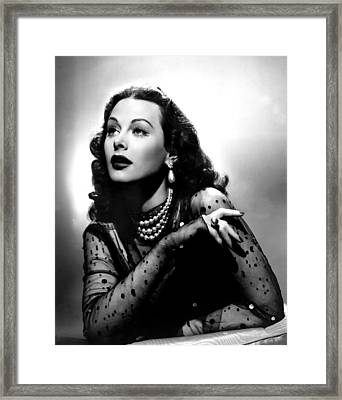The Conspirators, Hedy Lamarr, 1944 Framed Print by Everett