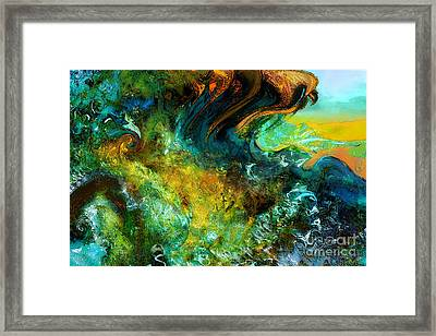 The Golden Wave  Framed Print by Anne Weirich