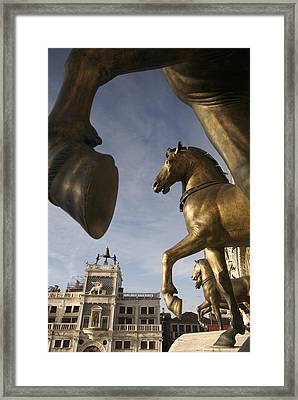 The Horses On The Basilica San Marcos Framed Print by Jim Richardson