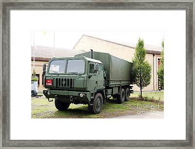 The Iveco M250 8 Ton Truck Used Framed Print by Luc De Jaeger