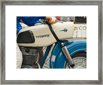 The Old Motorcycle Framed Print by Odon Czintos