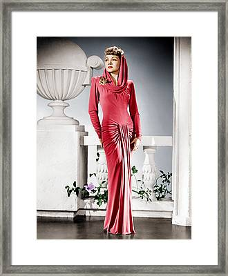The Palm Beach Story, Claudette Framed Print by Everett