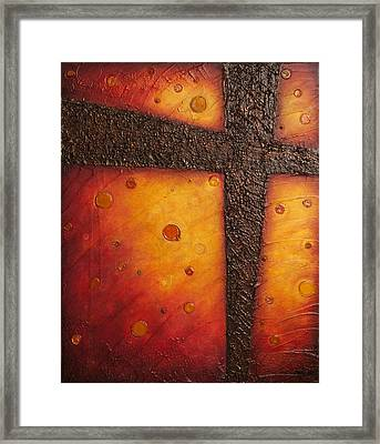 The Redeemer Framed Print by Margarita Puckett