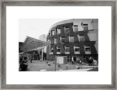 The Scottish Parliament Building Edinburgh Framed Print by Joe Fox