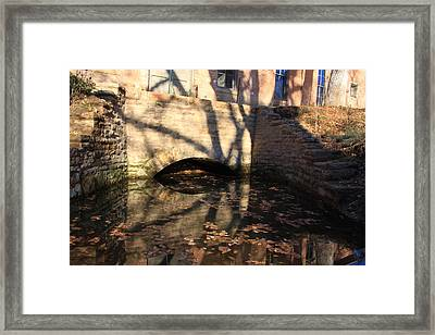 The Shadow Of Time Framed Print by Cynthia Cox Cottam