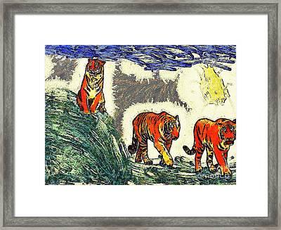 The Tigers Framed Print by Odon Czintos