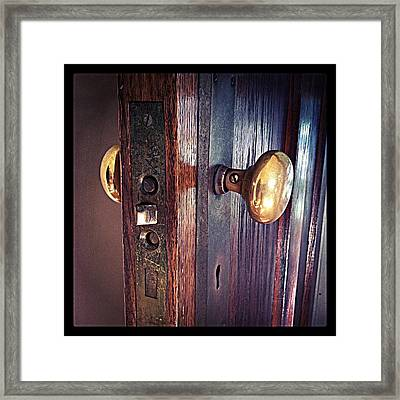 The Way In Framed Print by Michelle Calkins