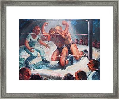 The Wrestling Match In Color Framed Print by Bill Joseph  Markowski