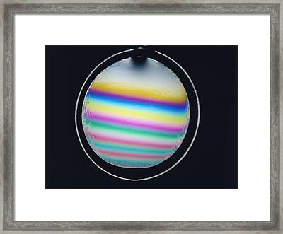 Thin Film Interference Framed Print by Andrew Lambert Photography