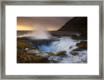 Thor's Well Framed Print by Keith Kapple