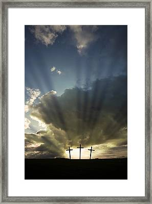 Three Crosses, West Yorkshire, England Framed Print by John Short