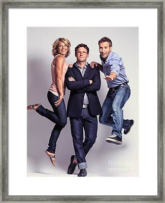 Three Fashionably Dressed Young People Framed Print by Oleksiy Maksymenko