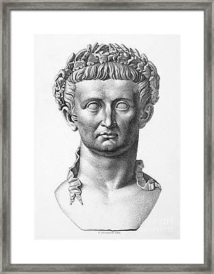 Tiberius (42 B.c.- 37 A.d.) Framed Print by Granger