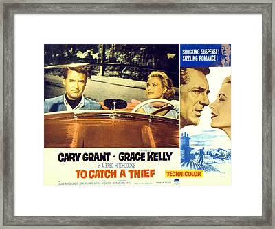 To Catch A Thief, Poster Art, Cary Framed Print by Everett