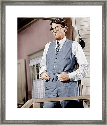 To Kill A Mockingbird, Gregory Peck Framed Print by Everett