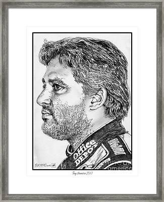 Tony Stewart In 2011 Framed Print by J McCombie