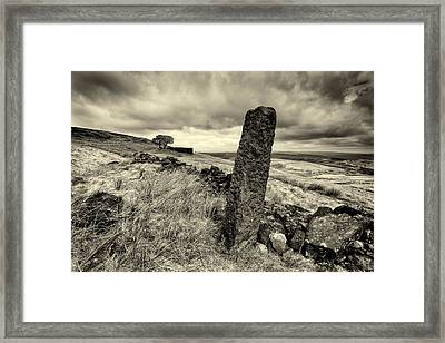 Top Withens Framed Print by Mark Haley