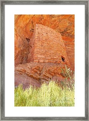 Tower Anasazi Indian Ruins - Comb Ridge - Utah Framed Print by Gary Whitton