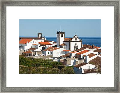 Town By The Sea Framed Print by Gaspar Avila