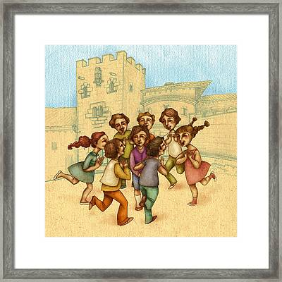 Traditional Game 1 Framed Print by Autogiro Illustration