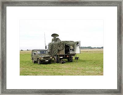 Transmission Troops Of The Belgian Army Framed Print by Luc De Jaeger
