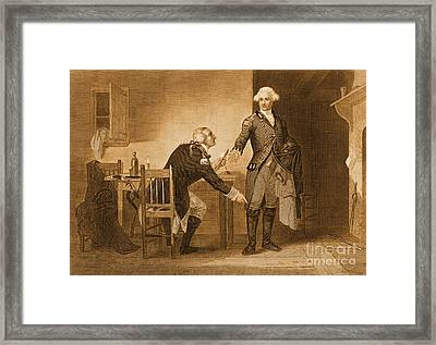 Treason Of Benedict Arnold, 1780 Framed Print by Photo Researchers
