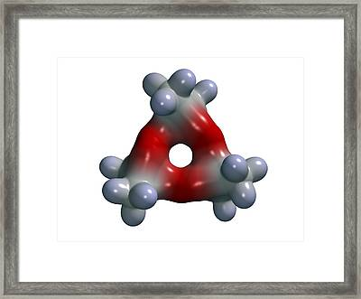 Tri-cyclic Acetone Peroxide, Explosive Framed Print by Dr Mark J. Winter