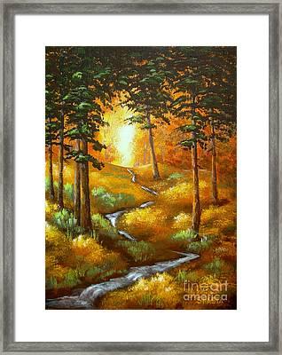 Triple  Creek Framed Print by Shasta Eone