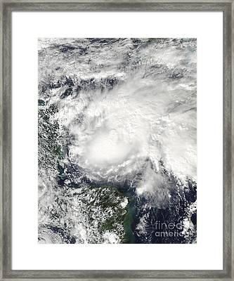 Tropical Storm Ida In The Caribbean Sea Framed Print by Stocktrek Images