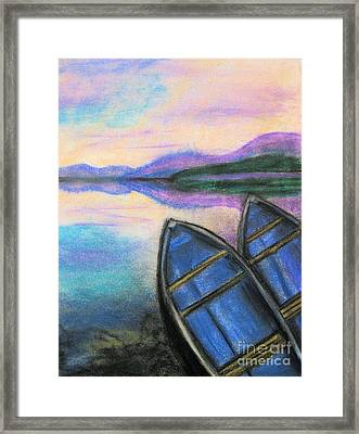 Twilight At Rest Framed Print by Judy Via-Wolff