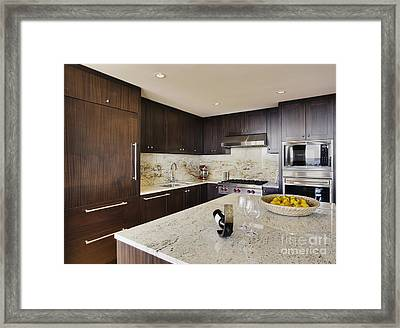 Upscale Kitchen Interior Framed Print by Andersen Ross