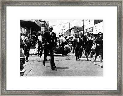 Us Civil Rights. Civil Rights Framed Print by Everett